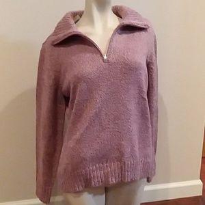 Karen Scott pink knit sweater